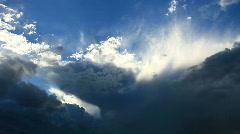 Majestic Cloud Peaks Time Lapse Stock Footage