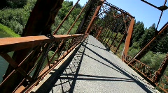 Russian River Bridge Canted View Stock Footage