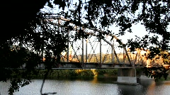 Russian River Bridge Scenery Stock Footage