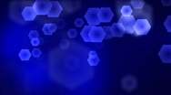 Blue hexagons Stock Footage