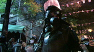 RIOT POLICE Confront Protest Demonstration Control Law Force Bangkok 2010 Stock Footage