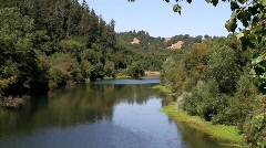 Russian River Wide Stock Footage