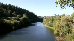 Russian River Wide View Stock Footage