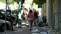 Downtown Healdsburg Shops Stock Footage