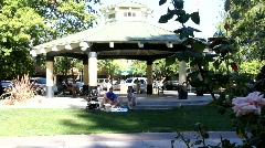 Downtown Healdsburg Plaza Stock Footage