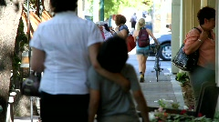 Downtown Healdsburg Shoppers Stock Footage