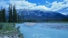 Banff Park river mountain P HD 7379 Stock Footage