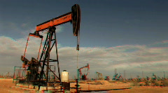 Fossil Oil Production in Stereoscopic 3D Stock Footage