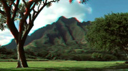 Na Pali Cliffs, Hawaii in Stereoscopic 3D Stock Footage