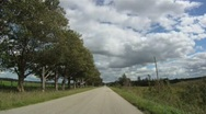 Country Road Drive Stock Footage