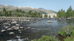Rapid mountain river in Mongolian Altai Stock Footage