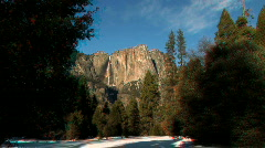 Winter in Yosemite National Park- Stereoscopic 3D Stock Footage