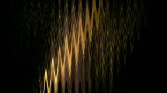 Golden waveform,rays sunlight light,,waterwaves reflection liquid water. Stock Footage
