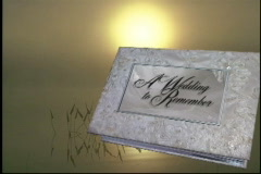1738L wedding to remember close bridal wedding album Stock Footage