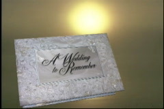 Stock Video Footage of 1729L a wedding to remember end bridal wedding album