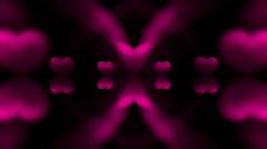 Abstract heart light wedding design dream illusion mind creativity background. Stock Footage