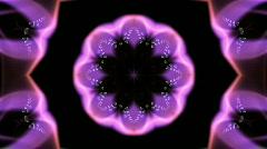 Abstract heart deform pattern wedding gift frame fractal design background. Stock Footage