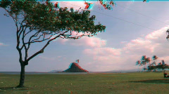 Chinaman's Hat, Hawaii in Stereoscopic 3D Stock Footage