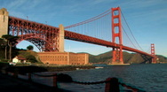 Golden Gate Bridge in Stereoscopic 3D Stock Footage