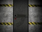 Multiple Metal Doors Opening to Alpha Channel Stock Footage