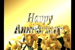 0129 happy anniversary Stock Footage