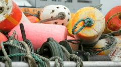 Fishing Buoys-Big Web Stock Footage