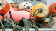 Stock Video Footage of Fishing Buoys-Big Web