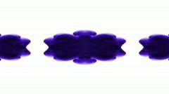 Purple flower smoke pattern,Oriental lotus ink fancy texture,kaleidoscope Stock Footage