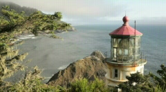 Heceta Head Lighthouse4-Big Web Stock Footage