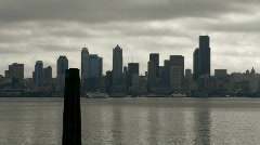 Seattle 01: ferry downtown real time Stock Footage