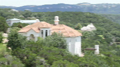 Lake Austin Hill Country Pan Stock Footage