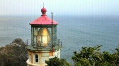 Heceta Head Lighthouse6-Big Web Stock Footage