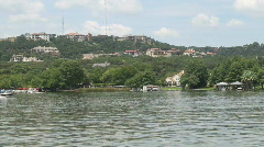 Stock Video Footage of Lake Austin Boat