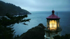 Heceta Head Lighthouse8-Big Web Stock Footage