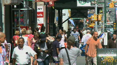 Pedestrians in the city - stock footage