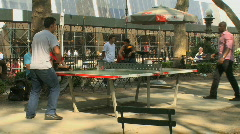 Ping pong in the park (4 of 6) Stock Footage