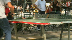 Ping pong in the park (5 of 6) Stock Footage
