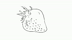 Drawing of a strawberry, HD Stock Footage