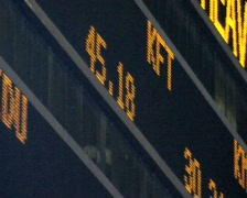 Stock Market LED Ticker Board - stock footage