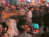 People Time Lapse at Night Stock Footage