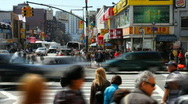 Chinatown Intersection Time Lapse Stock Footage