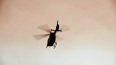 Helicopter ambulance ascends Stock Footage