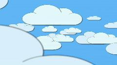 Cartoon Clouds Stock Footage