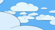 Stock Video Footage of Cartoon Clouds