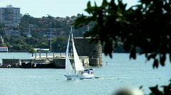 Sydney Harbour, Fort Denison - stock footage