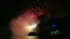 Sydney New Years Eve Fireworks 01 Stock Footage