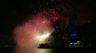 Stock Video Footage of Sydney New Years Eve Fireworks 01
