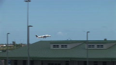 Plane taking off Stock Footage