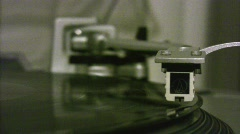 Record needle Stock Footage