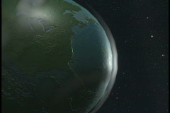 0640 spacce globe earthh Stock Footage